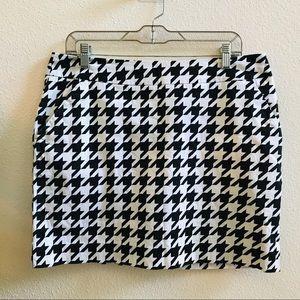 LOUDMOUTH LADIES houndstooth golf skirt skort 10
